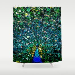 :: Peacock Caper :: Shower Curtain