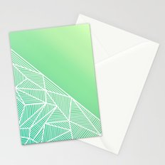 B Rays Geo Gradient Green Stationery Cards
