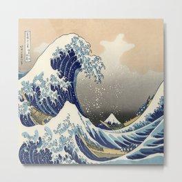seascape painting japanese ukiyo e art the great wave off kanagawa Metal Print
