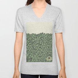 Forest house pattern Unisex V-Neck