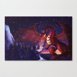 He raised his sword Canvas Print