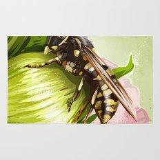 Wasp on flower 6 Rug