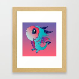 I Think I Can - Turquoise Framed Art Print