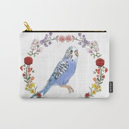 Parakeet in Purple Carry-All Pouch