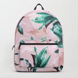 Tropical Floral on Pink. Odessa Calla Lily Backpack