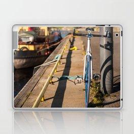 Bike on Harbor 4 Laptop & iPad Skin