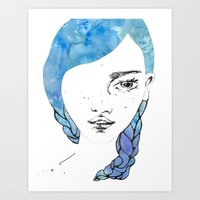 gemma Art Prints featuring Gemma by Jessee Fish