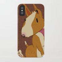 bull terrier iPhone & iPod Cases featuring Bull Terrier by Kristen Rimmel