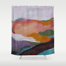 Roses Aren't Red 3 - Contemporary Abstract Landscape Shower Curtain