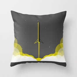 Falcon 9 Heavy Launch Throw Pillow