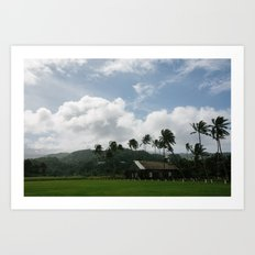 Small Town Maui Art Print