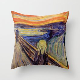 The Scream 1893 - Digital Remastered Edition2 Throw Pillow