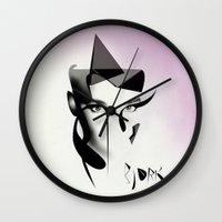 bjork Wall Clocks featuring Bjork by PandaGunda