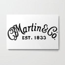 C. F. Martin & Co. Est. 1833 Black Script Shadowed Metal Print