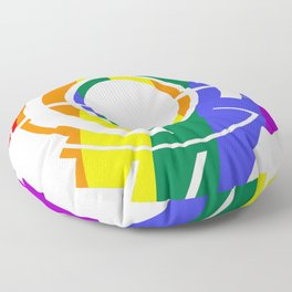 Ghost in the Rainbow Floor Pillow