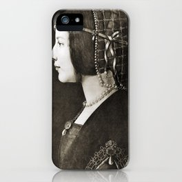 Bianca Sforza by Leonardo da Vinci iPhone Case