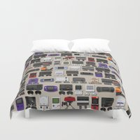 gamer Duvet Covers featuring Gamer by James Brunner
