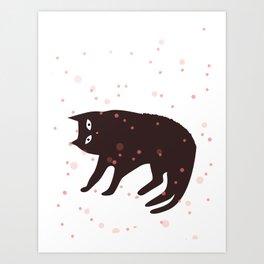Tickle My Tum Cat Art Print