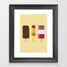 ICE LOLLIES Framed Art Print