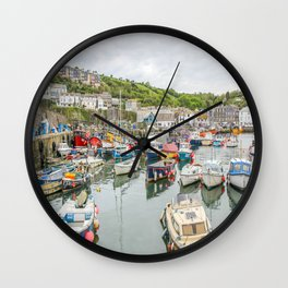 Mevagissey - Habour Wall Clock
