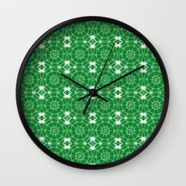 Green Pinwheels Wall Clock
