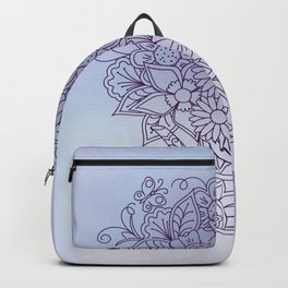 bouquet in patterned teapot on gradient Backpack