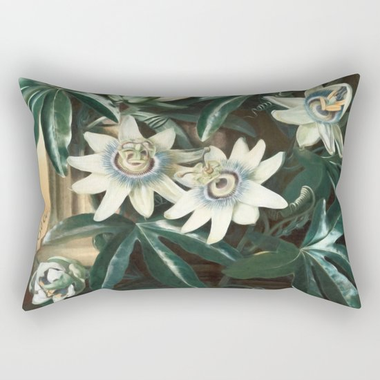 Passion for Passiflora Rectangular Pillow