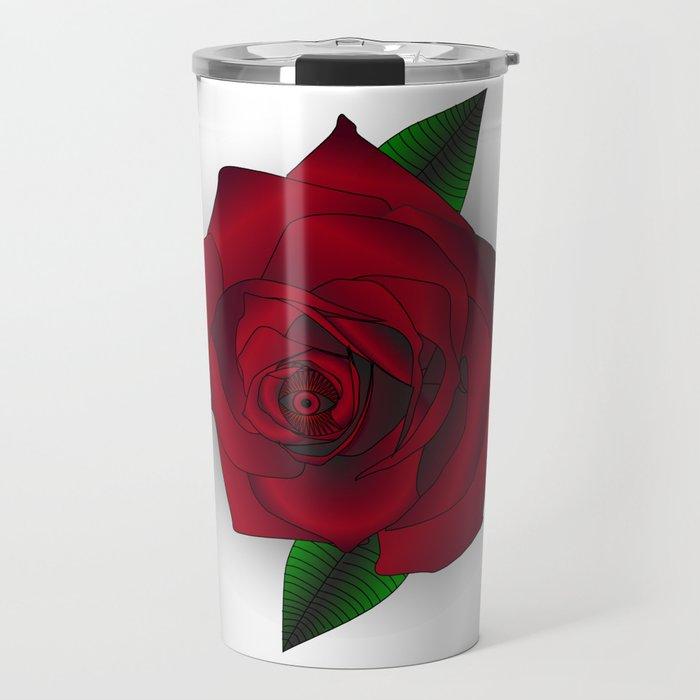 Eye Love Roses Travel Mug