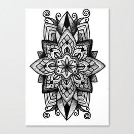Mandala Curley Canvas Print