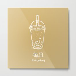 Bubble Tea/ Boba (mainichi) Metal Print