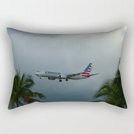 Prearing For Landing On Miami Airport Rectangular Pillow