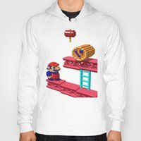 donkey kong Hoodies featuring Inside Donkey Kong by Metin Seven
