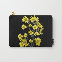 Sunflowers Over Black Carry-All Pouch