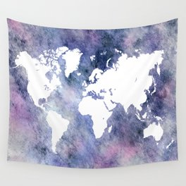 Design 65 world map Wall Tapestry