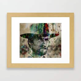 Cowboy Clint Eastwood Watercolor Painting Pop ART Color Framed Art Print