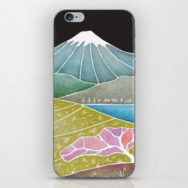 volcano, Japanese landscape iPhone Skin