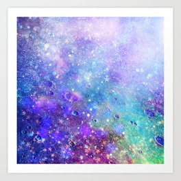 Colorful Deep Space Background Art Print
