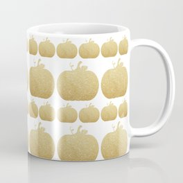 Gold Glitter Pumpkin Coffee Mug