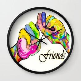 ASL Friend Bright Colors Wall Clock