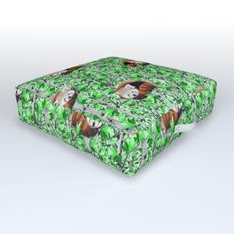 Red panda's in tree's Outdoor Floor Cushion