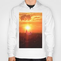 russia Hoodies featuring sunset in Russia by gzm_guvenc