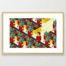 Robot Revolution Framed Art Print