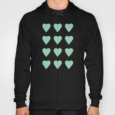 16 Hearts Mint Hoody
