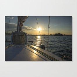 Sunset in Sydney Bay Canvas Print