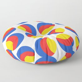 Primary colors. Simple retro spotty seamless pattern. Floor Pillow
