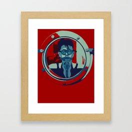 Love In A Hole Framed Art Print