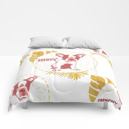 Frenchy Buldog Comforters