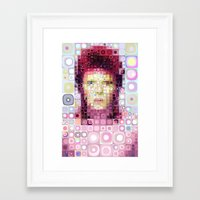 david bowie Framed Art Prints featuring David Bowie by Artstiles
