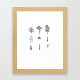 Assorted Trees Framed Art Print