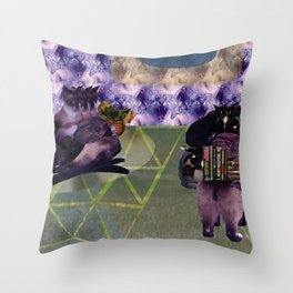 Everything is cats. All things are cats? Throw Pillow